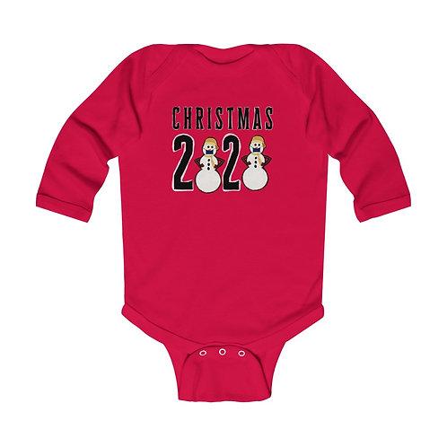 Christmas 2020 Snowman Infant Long Sleeve Bodysuit