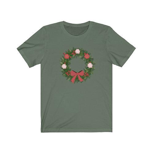Christmas Wreath Unisex Jersey Short Sleeve Tee