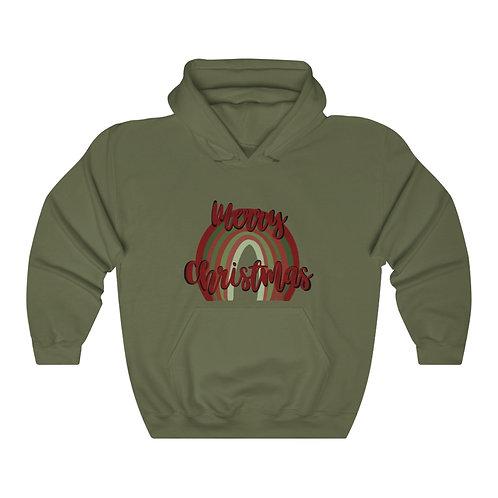 Merry Christmas Rainbow Unisex Heavy Blend™ Hooded Sweatshirt