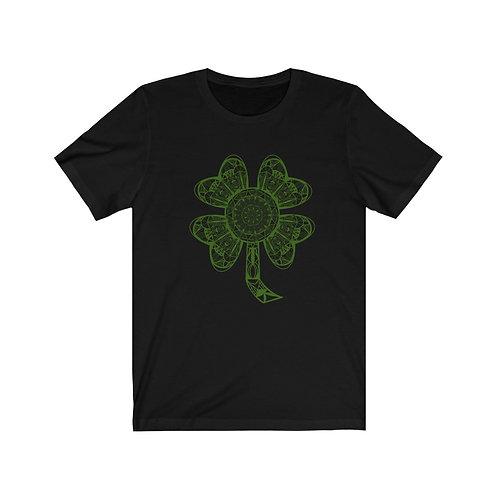 Green Four Leaf Clover by Bridget Mary Unisex Jersey Short Sleeve Tee