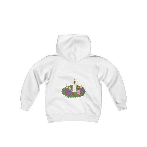 Advent Wreath Youth Heavy Blend Hooded Sweatshirt