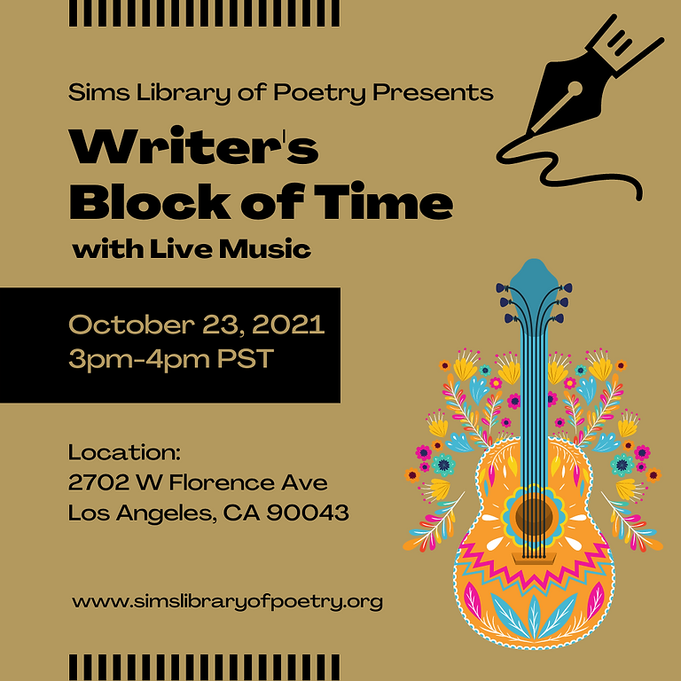 Writer's Block of Time with Live Music