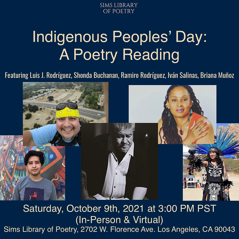 In-Person: Indigenous Peoples' Day Poetry Reading