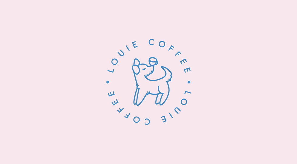 Cute Branding Design For Louie Coffee