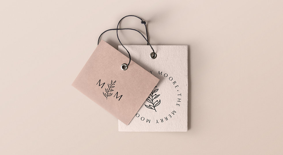 Feminine Logo Design For The Merry Moore
