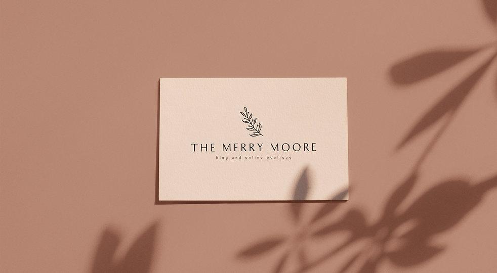 Feminine Logo Design For The Merry Moore