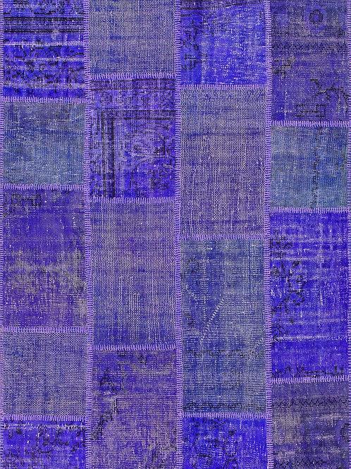 tapis violet patchwork en laine - Up-square 4950-89- Face produit