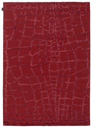 tapis rouge motif crocodile -harmony 8220-12 -face produit
