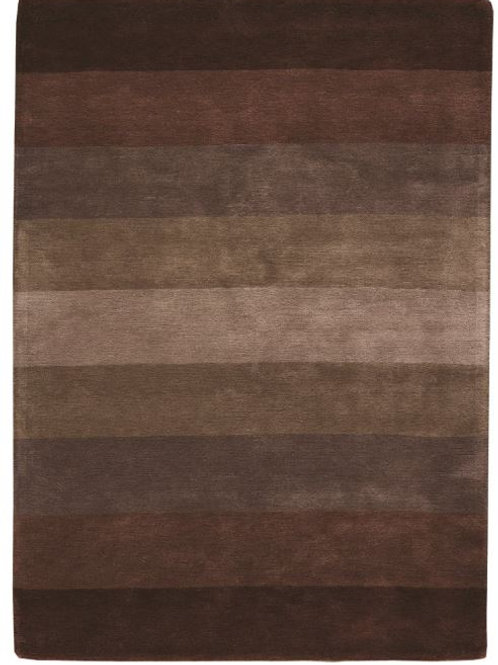 Brown design carpet in wool with stripes - Caesar 503-DE680 - Face product