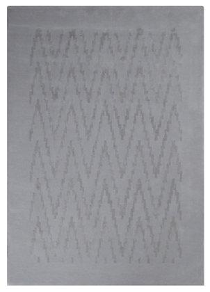 grey design carpet in wool and viscose - Ikat 2111-IK56 - face product