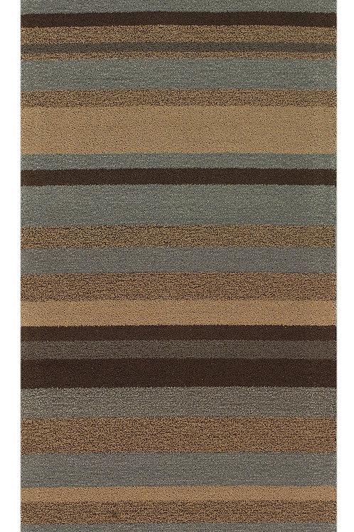tapis de couloir marron - Flax 4000-634 - face produit