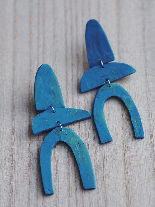 - MIA - polymer clay earrings