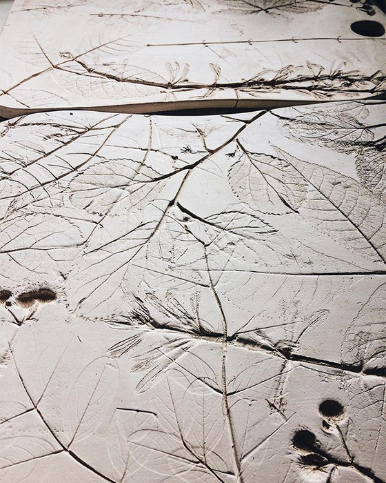 Botanical bisque 🌿#printonclay #dsfloral