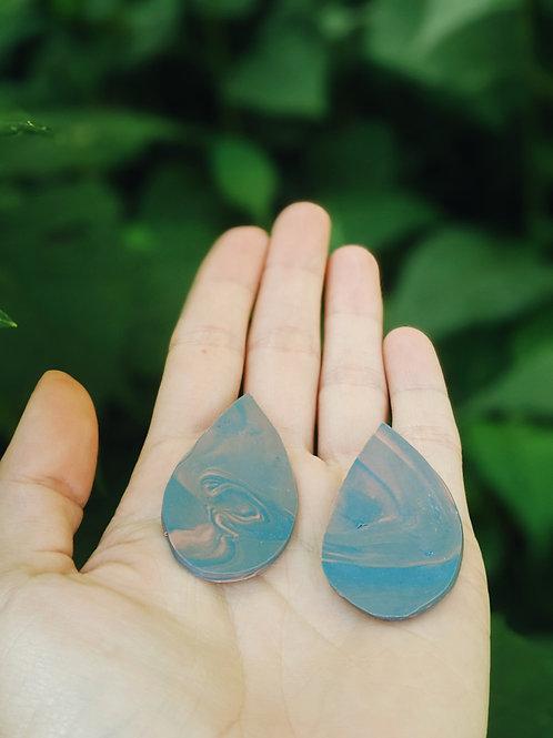 - COTTON CANDY RAIN - polymer clay earrings