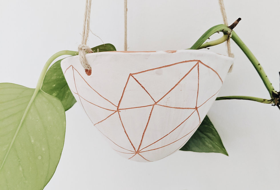 - GEOTRIANGLE - hanging planter