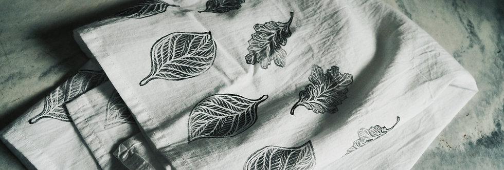 - LEAF - block printed tea towel