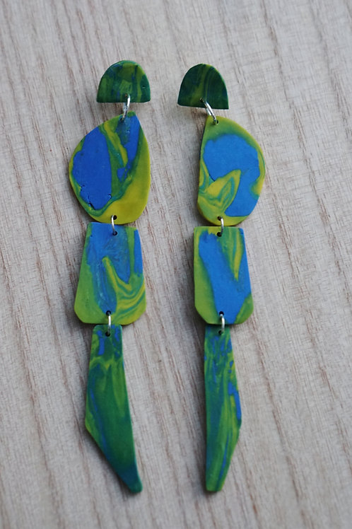 - KAT - polymer clay earrings