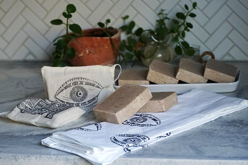 Soap - Handcrafted Cold-Process Goat's Milk Clay Soap made with Organic Lavender