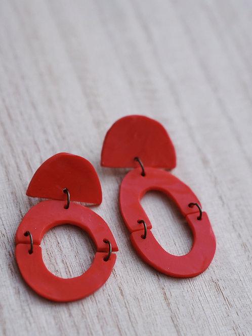 - JOY - polymer clay earrings