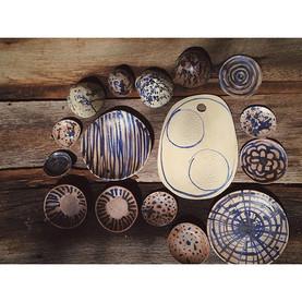 #ceramics #pottery #quickstudy #kiln #etsy #halflighthoney #dsblues #vsco