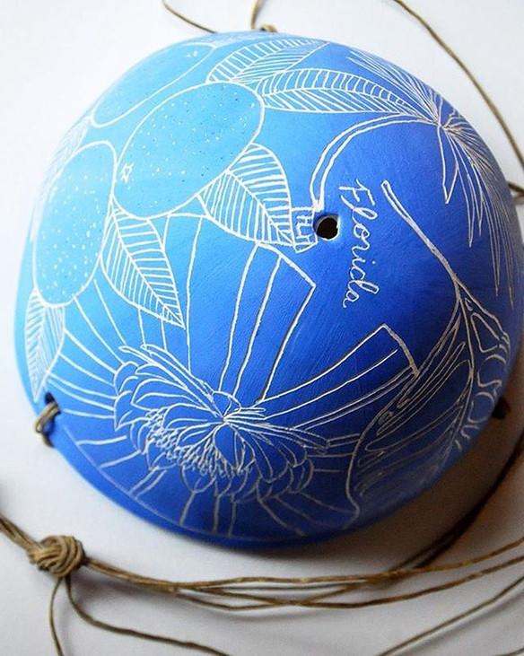 F L O R I D A Hanging Planter in Brilliant Blue 💙🌊💙