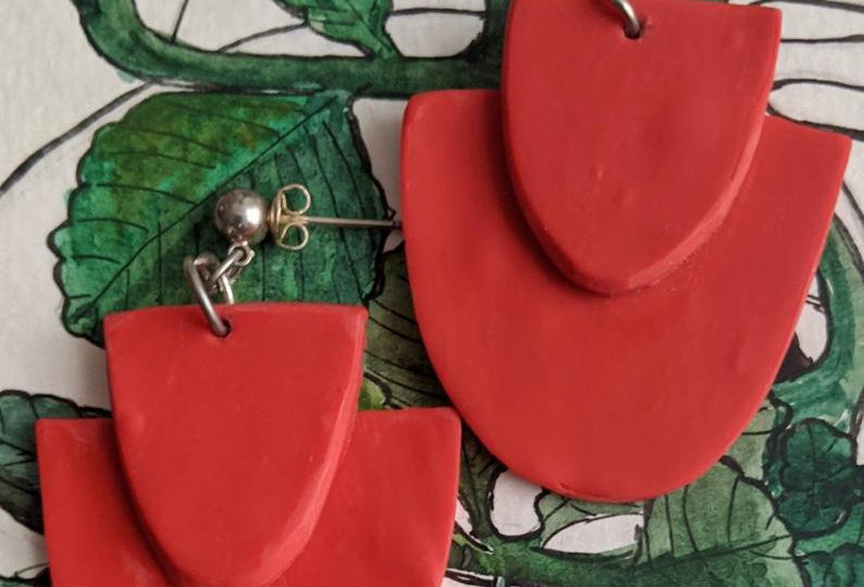POPPY - Polymer Clay Earrings