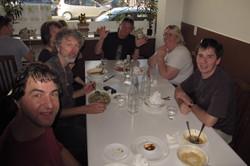 Pre-gig meal, Wellington NZ 2014