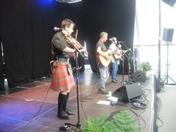 On stage at Skagen festival