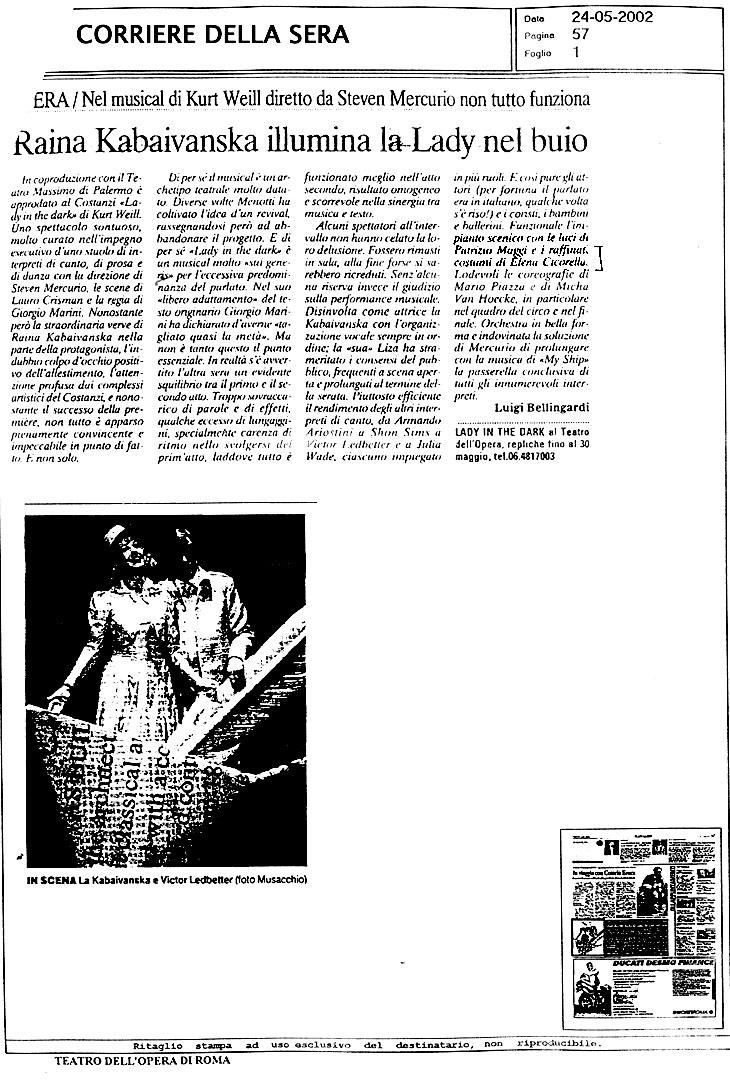 lady in the dark - corriere della sera