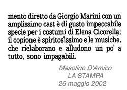 LADY IN THE DARK - PRESS La Stampa