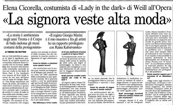 LADY IN THE DARK - PRESS IL TEMPO