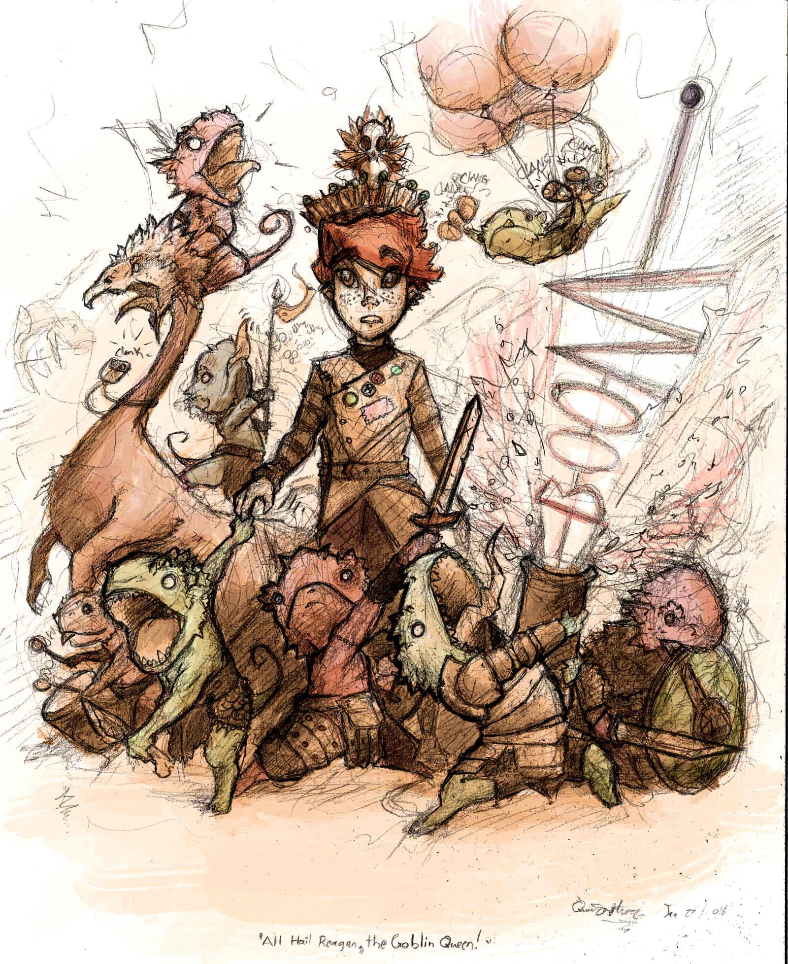 Reagan the goblin queen!