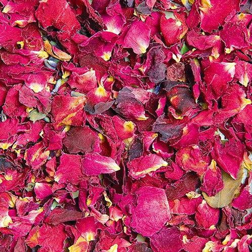 Lose Kräuter Rosenblüten