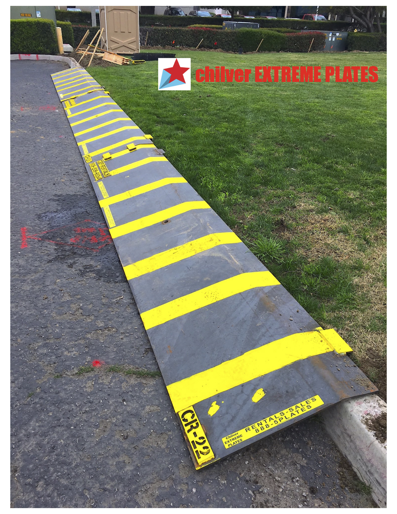 Heavy-Duty Steel Curb Ramp