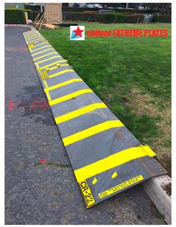 Heavy-Duty Steel Curb Ramp