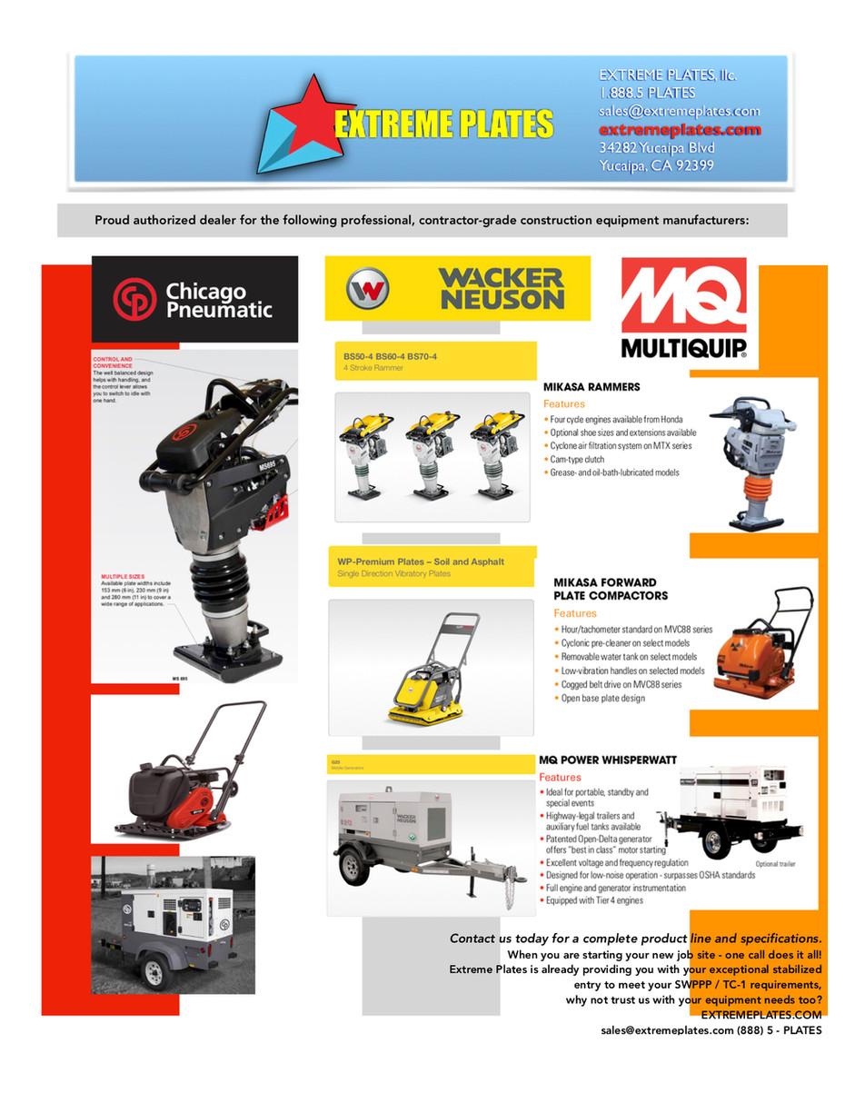 Authorized dealer for Chicago Pneumatic, Wacker Neuson, and MQ Multiquip