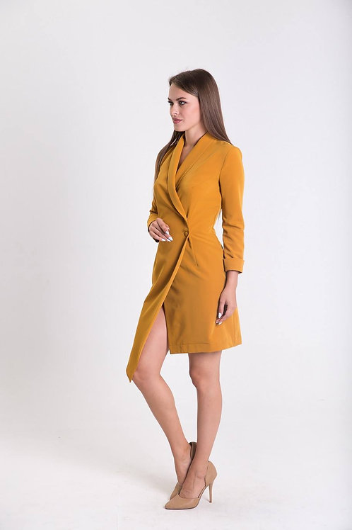 Mango mojito dress with asymmetric collar