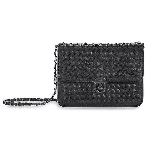 Sincera Black Shoulder Handbag