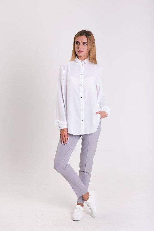 White shirt with elongated back