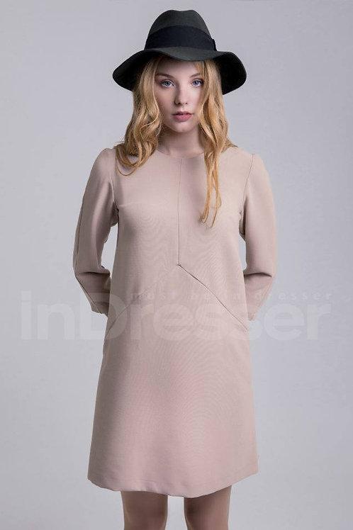 Beige casual dress