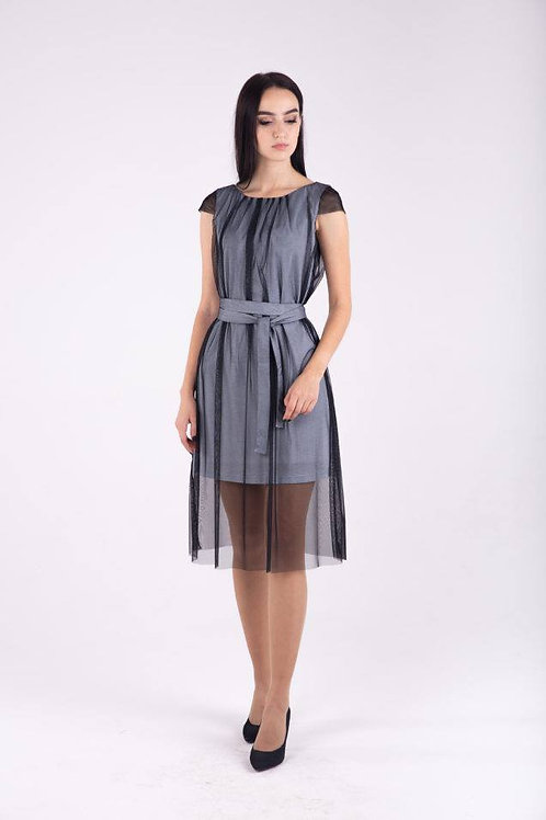 Double layer silver dress