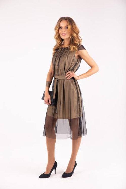 Double layer golden dress