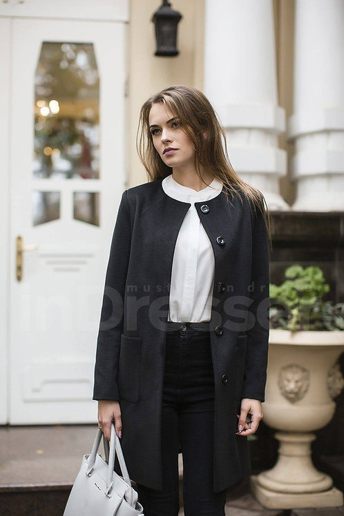 Black Straight-Cut Coat