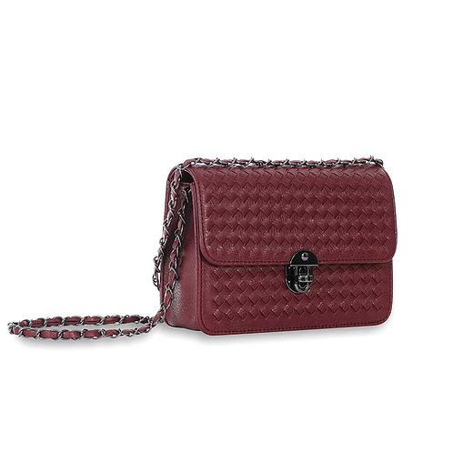 Sincera Wine Red Shoulder Handbag
