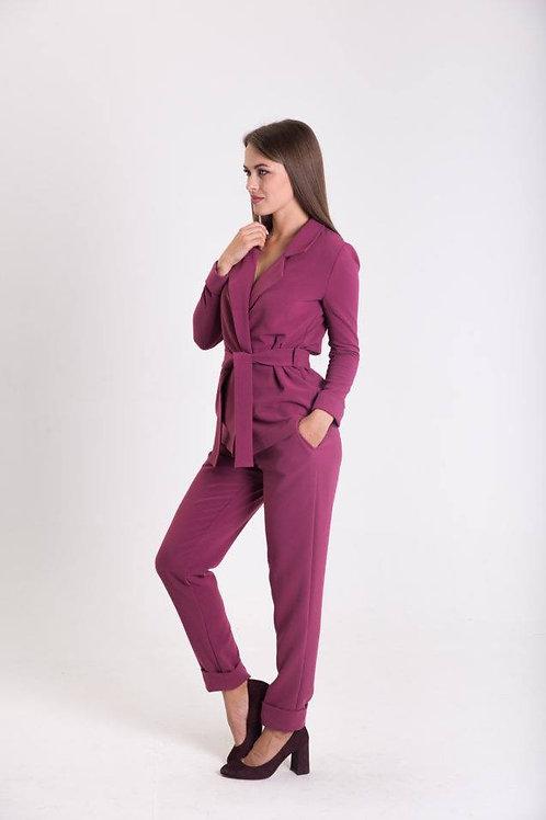 Raspberry kimono suit