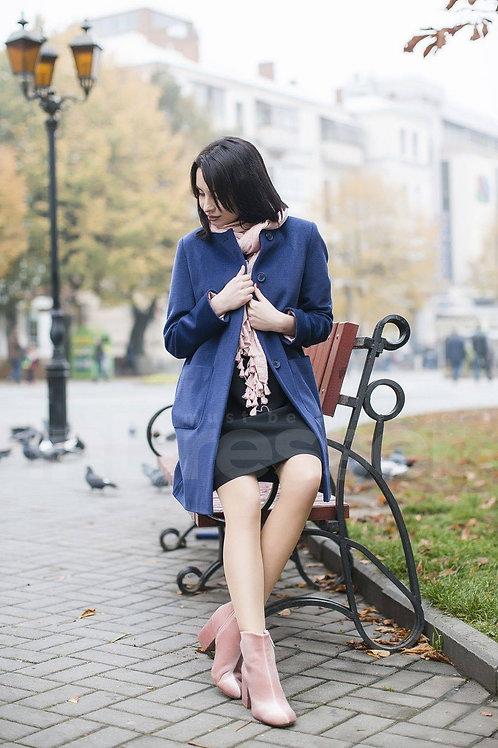 Blue Straight-Cut Coat