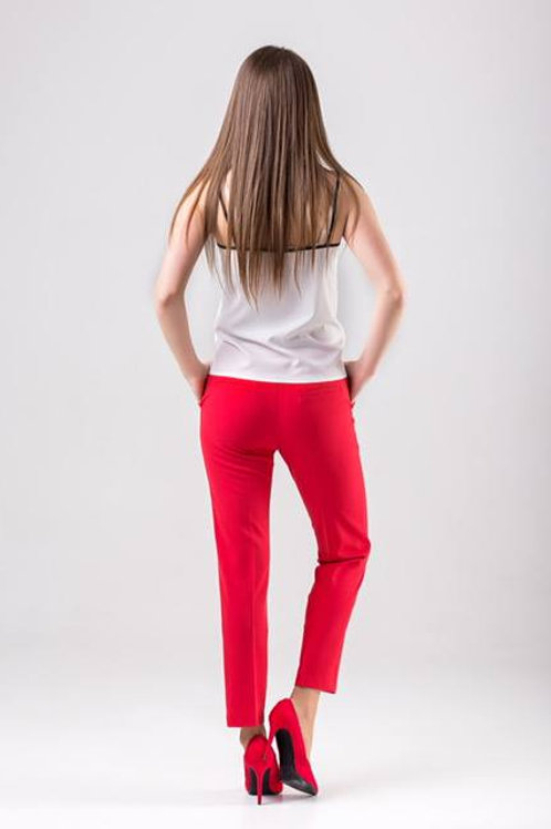 Classic straight 7/8 length red pants