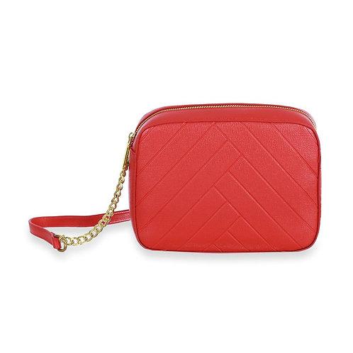 Sincera Red CrossBody Handbag