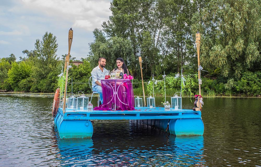 Свидание на плоту, Киев, сервис романтики Альтечо
