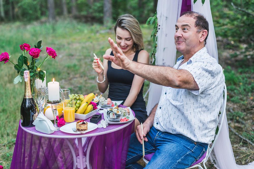 Уютный романтический ужин в лесу, Киев, Сервис романтики Альтечо